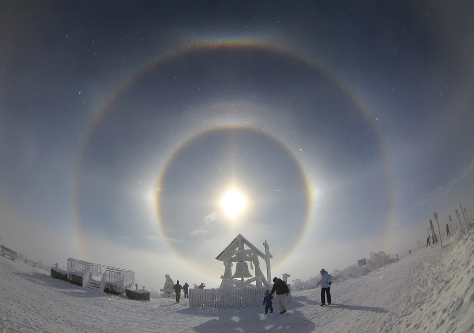 Sun aura photo