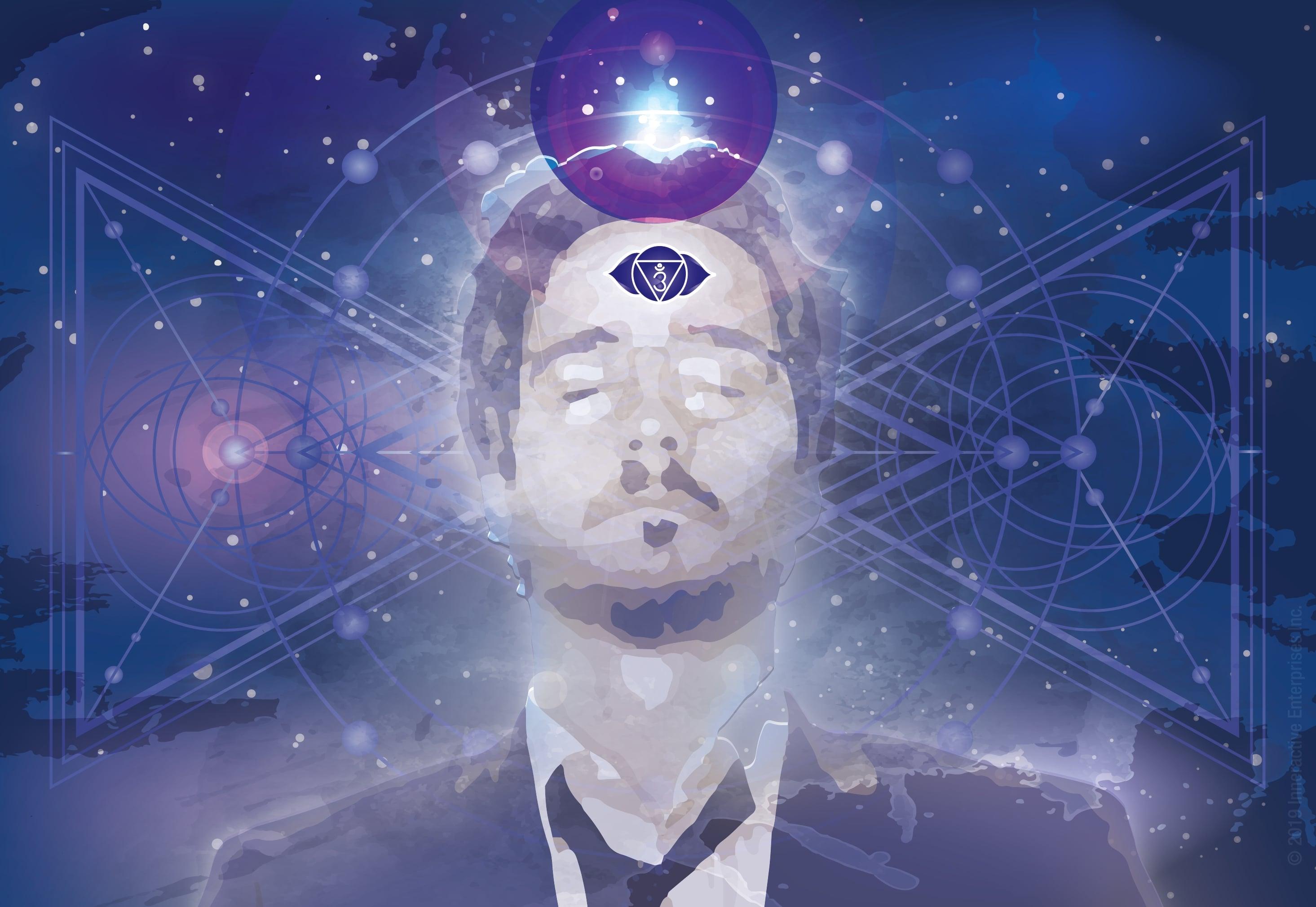 Chakra Third Eye Purple ball Illustration-01